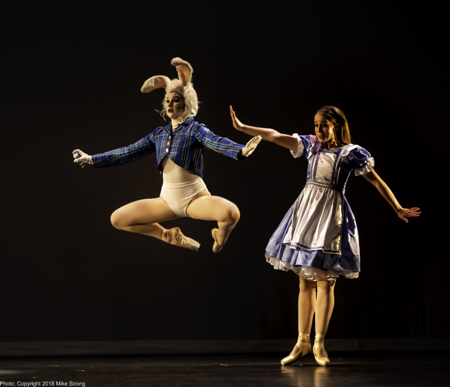 Annie Cook as the White Rabbit and Juliana Kuhn as Alice - Alice in Wonderland - dress No 1 (Thu)