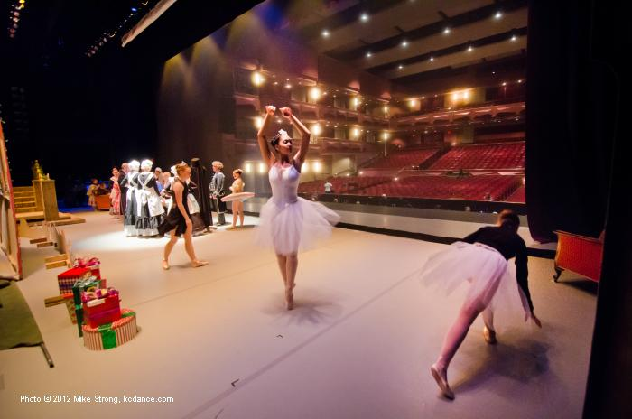 On stage prior to dress Friday. Danica Williams in center. (sous-sous)