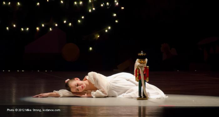 (7pm) Clara, Mallerie Moore - ready to dream of The Mouse King, the Nutcracker Prince, and a cast of characters