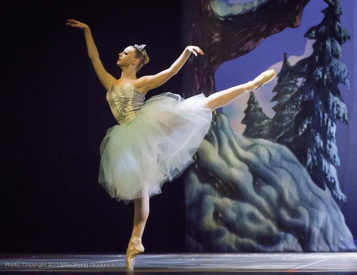 Photo by Mike Strong (kcdance.com) - Dena'h Gregory as Snow Queen (7 pm)