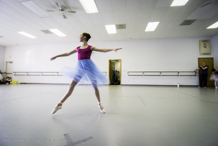 Photo by Mike Strong (kcdance.com) - Molly Cook in studio - rehearsing her Snow Queen role