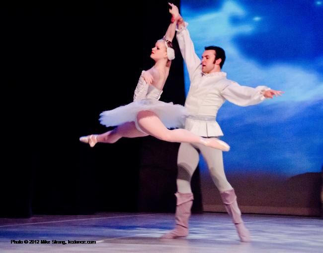 Meredith Green (Odette at 2 pm) and Erik Sobbe (Prince Siegfried) Swan Lake by the American Youth Ballet (of American Dance Center in Overland Park, KS) May 12, 2012 - photo Mike Strong