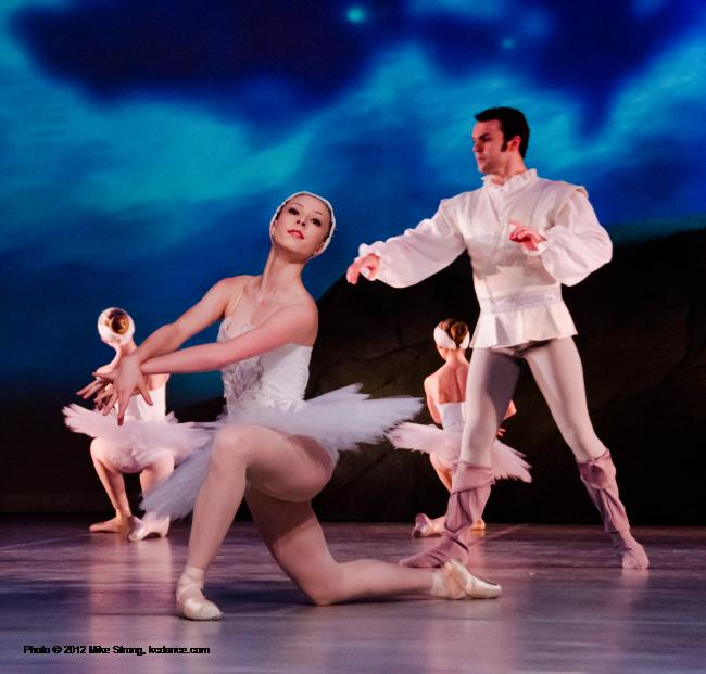 Stephanie Ruley and Erik Sobbe - Swan Lake by the American Youth Ballet (of American Dance Center in Overland Park, KS) May 12, 2012 - photo Mike Strong