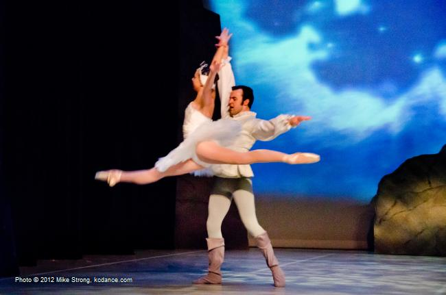 Stephanie Ruley (Odette at 7 pm) and Erik Sobbe (Prince Siegfried) Swan Lake by the American Youth Ballet (of American Dance Center in Overland Park, KS) May 12, 2012 - photo Mike Strong