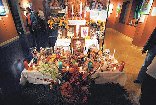 Day of the Dead Altar at Guadalupe Center in Kansas City for Dia de los Muertos 1 Noviembre 2008