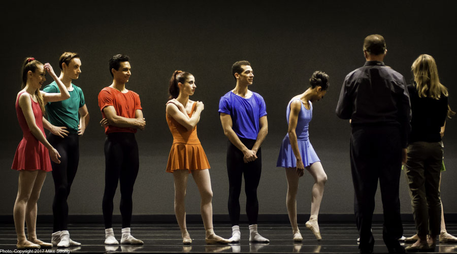 Notes after dress with Devon Carney (right) and ballet master Christie Capps (far right)
