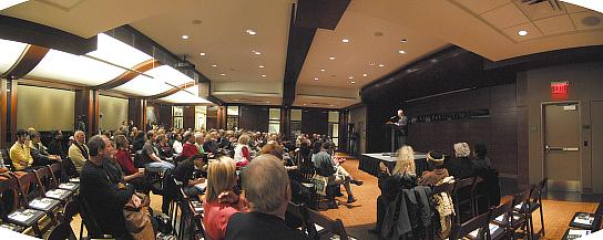 William Whitener gives introductory remarks at KCMO library for Donald McKayle