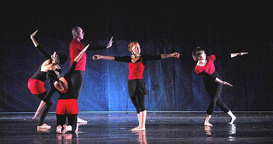 Stephanie Whittler, Kat Kimmitz, Dale Fellin, Penelope Hearne, Ann Shaughnessy-Gordon - On Hold - City in Motion at Dance in the Park 2007