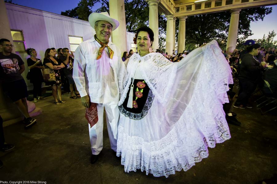 Mexico - in Veracruz costumes, dancing in Rose Marie's Fiesta Mexicana