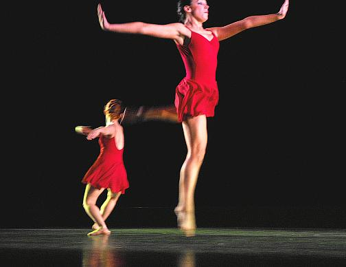 Kat Kimmitz (front) and Penelope Hearne in Illuminata - by Dale Fellin