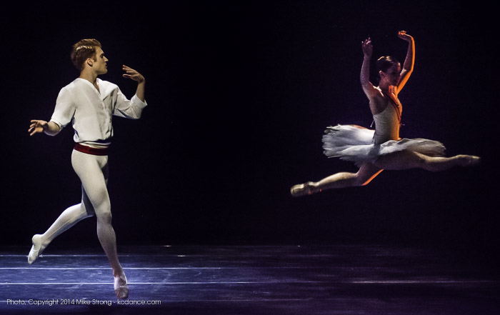 On stage before the performance, warming up are Alexander Peters and Laura (Wolfe) Hunt
