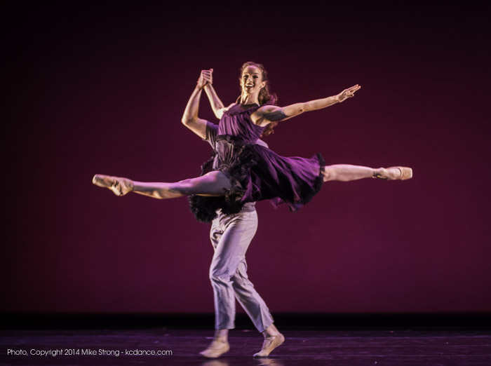 Keenan McLaren (jete) and Mark Allyn Nimmo (behind) in Under the Lights by Chris Stuart