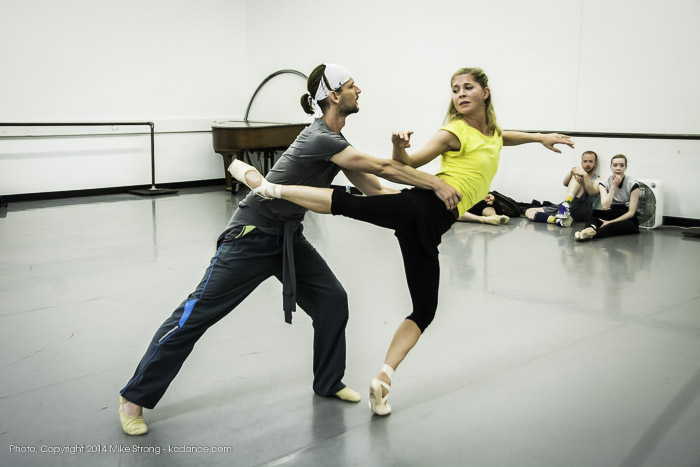 "Logan Pachciarz and Molly Wagner in ""The Still Point"" by Todd Bolender - KCDF 2014 is dedicated to Bolender's Memory - studio rehearsal"