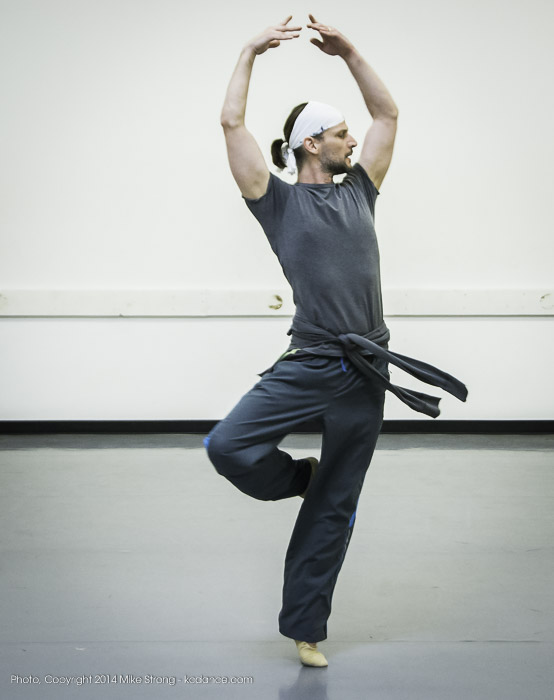 "Logan Pachciarz in ""The Still Point"" by Todd Bolender - studio rehearsal"