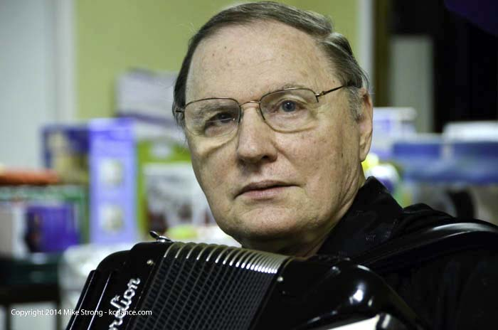 Don Lipovac with accordian at Polski days, All Saints Church in all Saints Hall – 8th and Vermont, Kansas City KS
