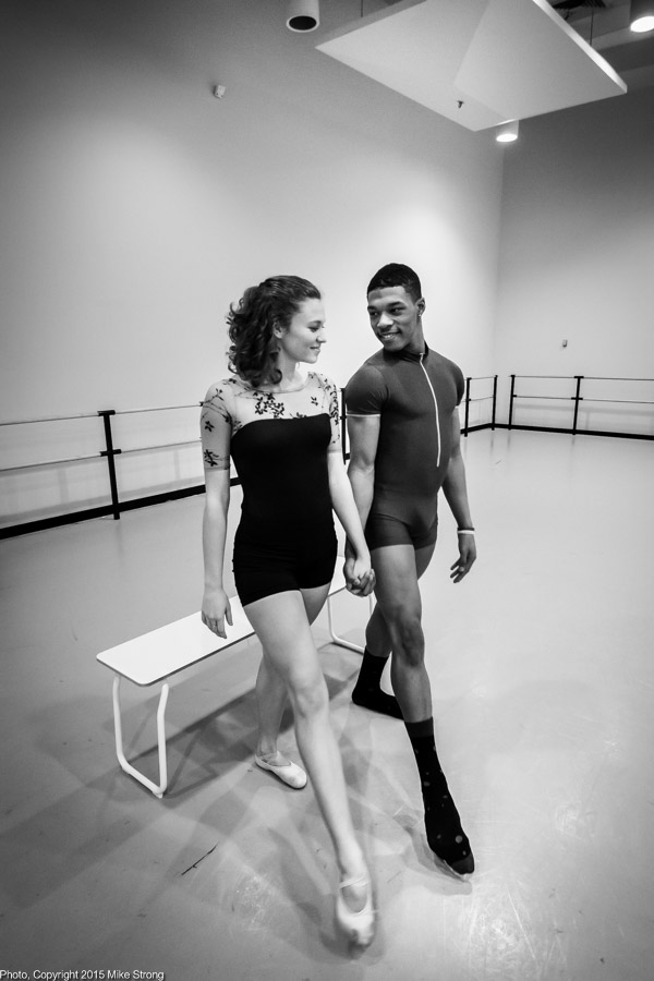 Phoebe Perry, DaJuan Johnson - studio rehearsal