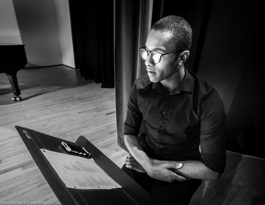 Choreographer John Roberts, reading Toni Morrison poetry for the narration