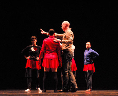 Dale Fellin, choregrapher, at tech rehearsal with City in Motion dancers  for Illuminata performed at Modern Night at the Folly 19 jan 08