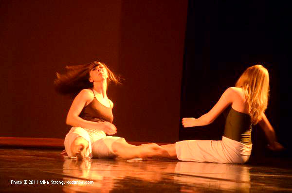 Ashley Trullinger, Michaela Sherman in Back To You - Choreographer: Justin Hundley - Modern Night at the Folly 2011