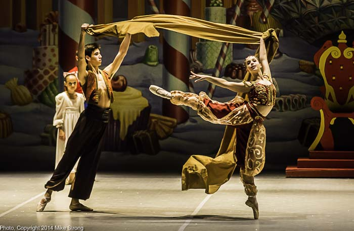 Seth York and Julianna Kuhn (7pm) in the Arabian part in costume on stage
