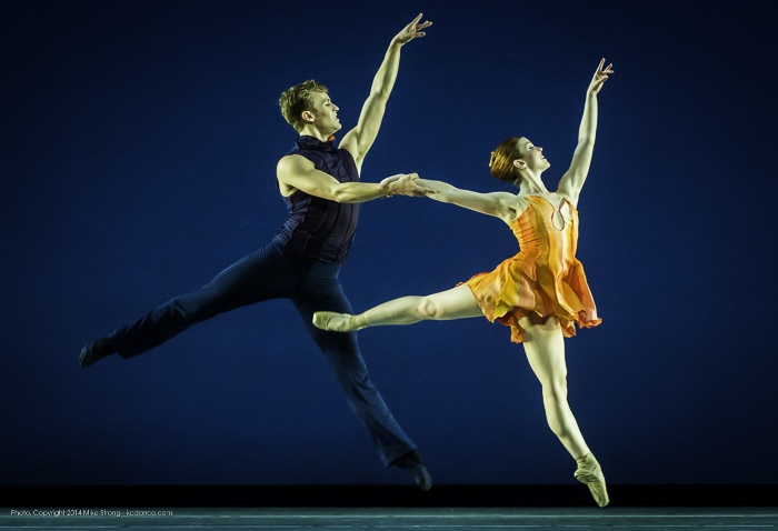 Travis Guerin and Laura Hunt in Concertino by Amy Seiwert for KC Ballet
