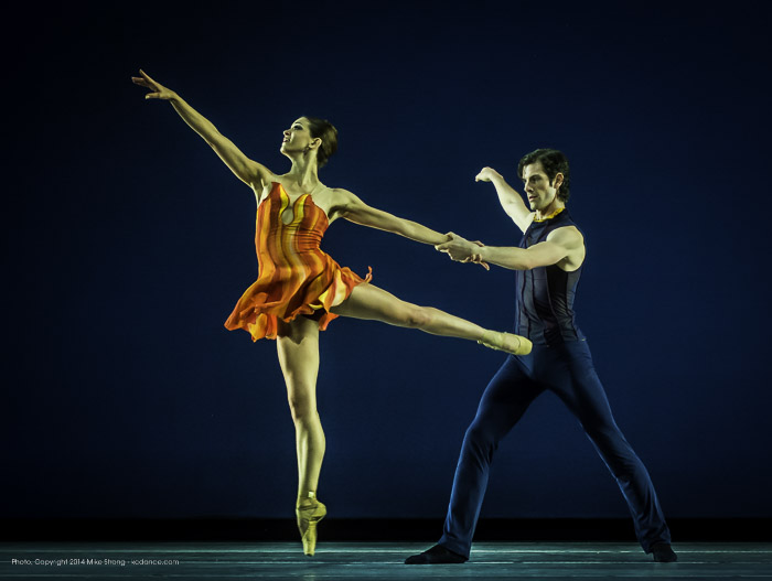 Angeline Sansone and Geoffrey Kropp in Concertino by Amy Seiwert for KC Ballet