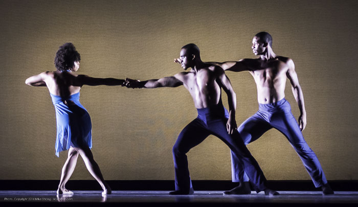 Laurel Richardson, Maleek Washington, John Swapshire in Heart Thieves by Robert Moses for Wylliams-Henry Contemporary Dance Co.