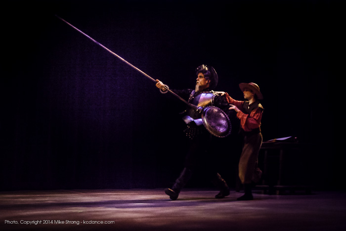Danny Ryan (Don Quixote) and Asher Wilson (Sancho Panza)