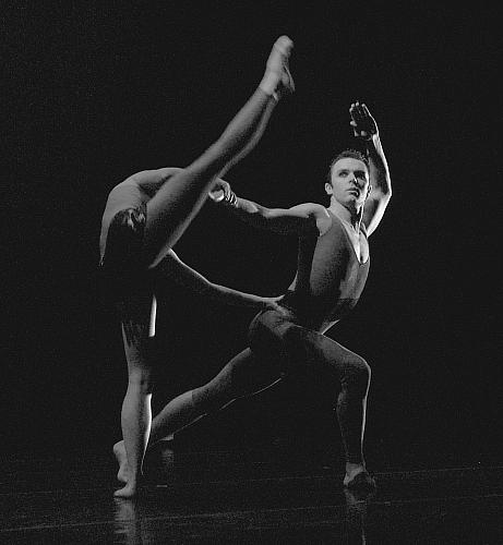 Molly Vaeth and Eric Sobbe in Ebony Concerto for UMKC Fall 2008 dance concert