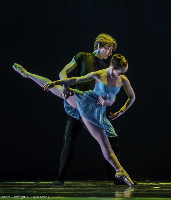 Hannah Studebaker (front) and Shane Horan in 'On The Edge' by Paula Weber