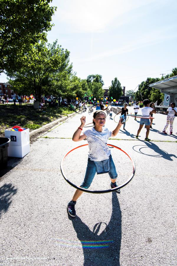 Block party thursday and hula hoops