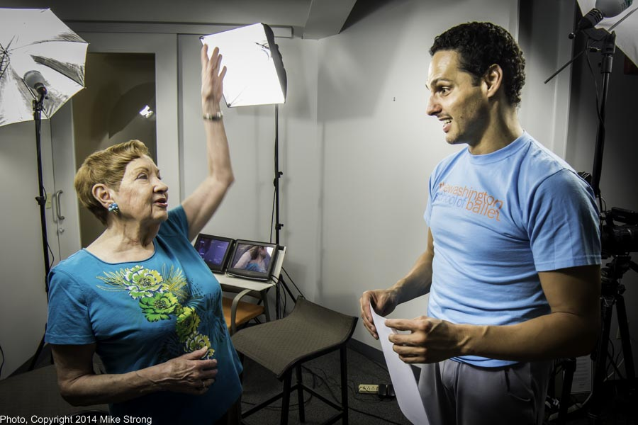 Billie Mahoney with Luis Torres who was in to set a piece with KC Ballet