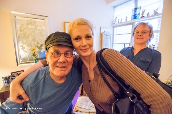 Luigi with Christine Colby Jacques and Luigi's partner Francis Roach in their apartment on west 68th St, NYC - June 2013