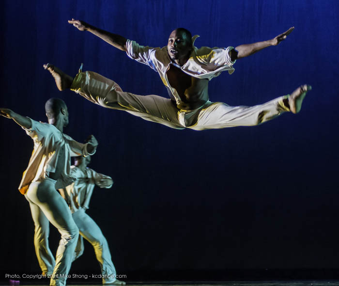 "Hassan Ingraham (top) with Demetrius McClendon and Winston Dynamite Brown in ""Ice Fire"" by Fred Benjamin"