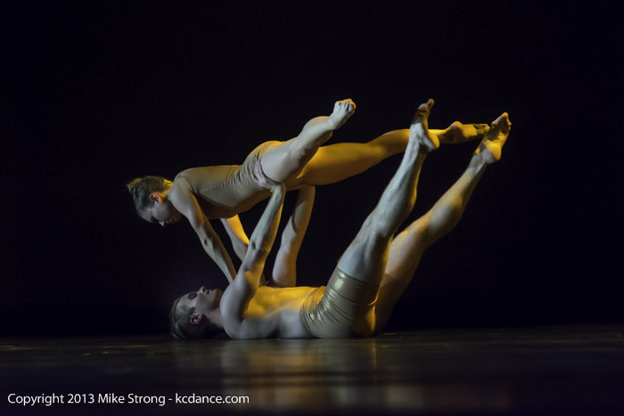 Katie Jenkins (top) and Michael Tomlinson in Ritual by Amber Perkins