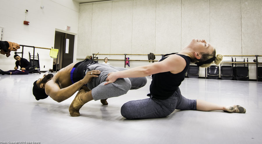 Studio Rehearsal for Ritual by Amber Perkins - Winston Dynamite Brown in the hinge with Katie Jenkins