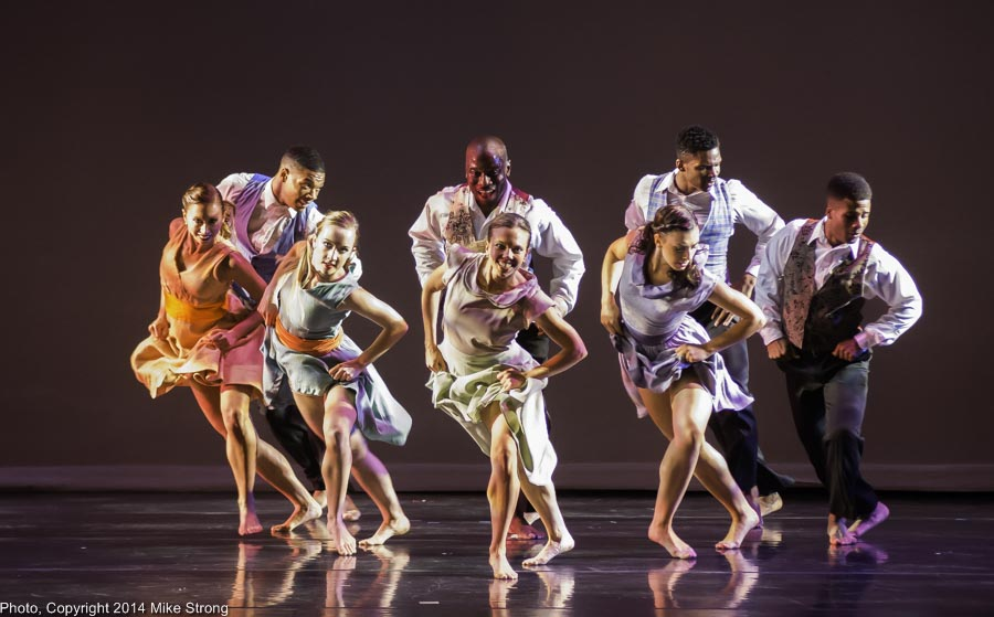 Hand on the Plow - Choreography by Telly Fowler (back row, center) - L-R: Front: Christina Mowrey, Kelsey Crawford, Katie Jenkins, Caroline Fogg, Winston Cynamite Brown - Back: DaJuan Johnson, Telly Fowler, John Swapshire