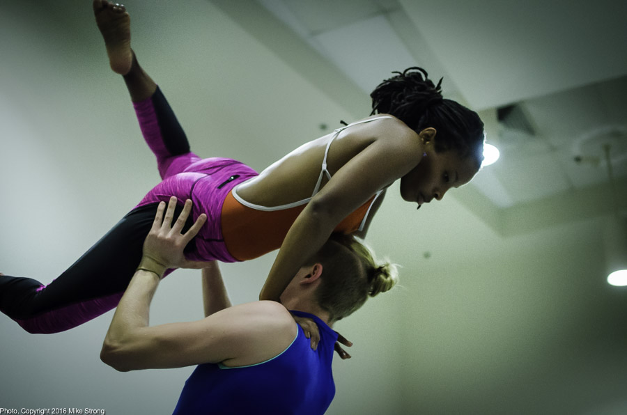 Ferment - close shot with Trey Johnson starting a lift with Shacura Wade