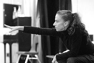 DeeAnna Hiett directing in-studio rehearsal for City by Jennifer Muller