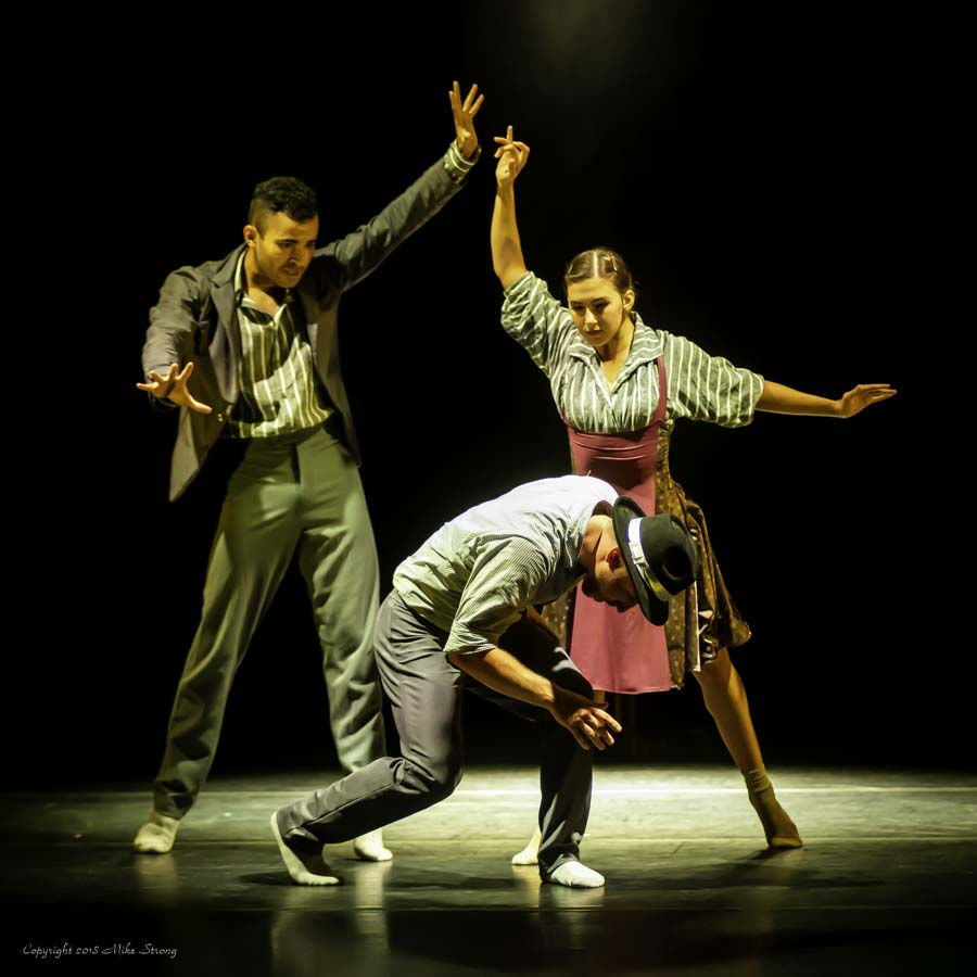 José Soares, Malerie Moore and (front) Ben Rage in Alibi for Concept Zero